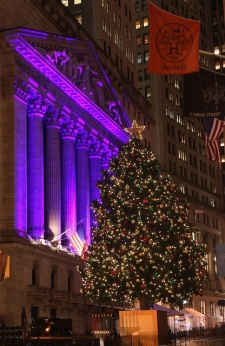 New York Stock Exchange Christmas Tree