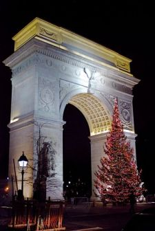 Christmas Tree at Washington Square Park